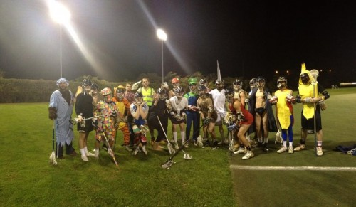Pitt Lacrosse Celebrates Halloween